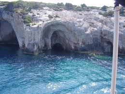 in a blue cave on zakynthos island mapio net
