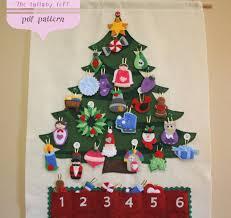 christmas calendar christmas tree advent calendar pattern 29 ornaments
