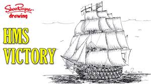 how to draw a man of war sailing ship youtube