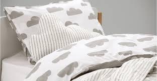 Bedding Sets Uk Iso Clouds Single 100 Cotton Reversible Bed Set Cloud Grey