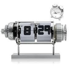 mechanical desk clock amazon com electro mechanical flip clock with alarm and white led