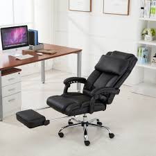 Recliner Computer Desk by Executive Reclining Office Chair Ergonomic High Back Leather