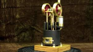 little brass stirling engine running on tiny flame youtube