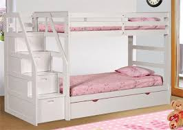 Bunk Bed With Storage Stairs Dillon White Twin Bunk Bed With Storage Stairs White Bunk Beds