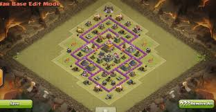 layout design th7 anti dragons th7 town hall 7 war base layout with 3 air defenses
