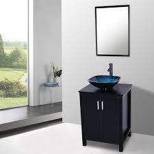 Bathroom Sink Eclife Ocean Blue Square Bathroom Sink Artistic Tempered Glass