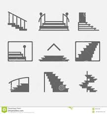 stairs or stairway icons stock vector image 58653293
