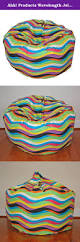 ahh products wavelength jelly bean washable kid bean bag chair