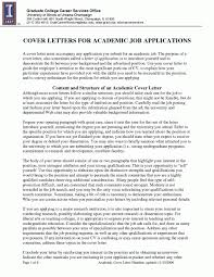 Free Resume Cover Letter Samples by Sample Cover Letter Academic