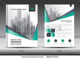 annual report brochure flyer template green stock vector 689643058