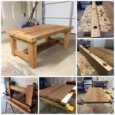 making a wood table coffee tables homemade wooden tables ana white simple square cedar