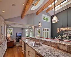 vaulted kitchen ceiling ideas open concept great room with vaulted ceilings contemporary