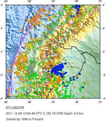 Usgs Real Time Earthquake Map Seismicity Of Ecuador From 1990 To Present Usgs Map Showing