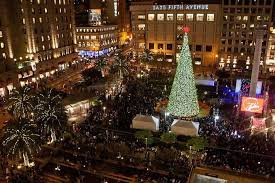 sf christmas tree lighting 2017 michael bauer s best restaurants around union square san francisco