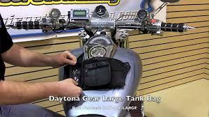 totw daytona gear leather motorcycle tank bags youtube