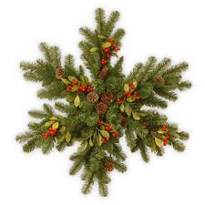 national tree company decorative collection berry leaf 32 in