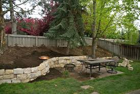 Backyard Retaining Wall Ideas Creative Backyard Wall Ideas Photos Contemporary Retaining Wall
