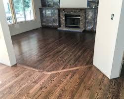 full house hardwood floors with custom stain kent wa