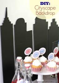 Superhero Backdrop Diy Make A Cityscape Backdrop Celebrations At Home