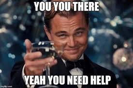 You Need Help Meme - leonardo dicaprio cheers meme imgflip