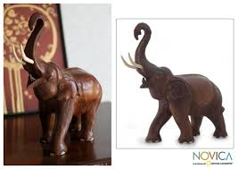 wooden elephant figurines 7144