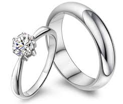 promise ring sets 65 ct diamond promise ring wedding band set for couples in