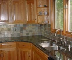 Stone Mosaic Tile Kitchen Backsplash by Congenial Neutral Kitchen As Wells As Black Subway Tilekitchen