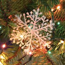30pcs white snowflake ornaments tree decoration home