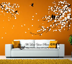 birds branch plum flowers blossom removable wall stickers kids art received package couple of sheets stickers transfer film posted by tube