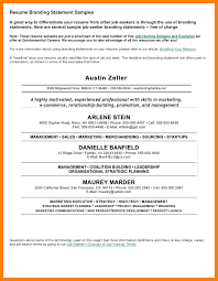 Sample Of Retail Resume by 9 Brand Statements Examples Retail Resumes