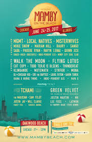 Chicago Map Poster by Mamby On The Beach June 24th And 25th 2017 Chicago Il