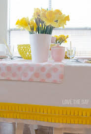tablecloths decoration ideas decoration ideas a diy ruffled tablecloth