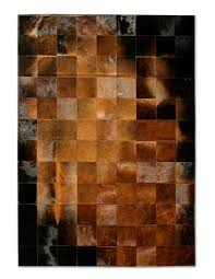Cowhide Christmas Stockings Pure Rugs Patchwork Cowhide Park Normand Brown Black Area Rug