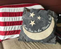 engraved pillows moon and back pillow etsy