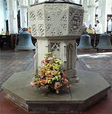 baptismal basin font and baptism