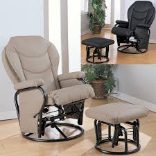 swivel glider chairs living room furniture swivel glider rocking recliner and ottoman with wood