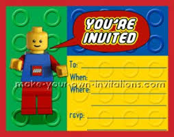 lego birthday invitations make homemade invites