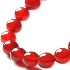 red beads bracelet images Rose red stone beads bracelets diy natural red stones elastic jpg