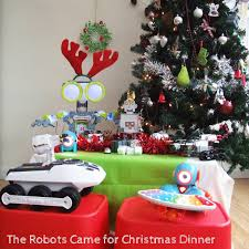 the robots came for dinner on christmas day project