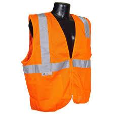 radians fire retardant orange mesh large safety vest sv25 2zom l