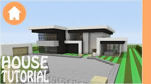 Modern Hosue by Minecraft Tutorial How To Build A Modern House In Minecraft 1