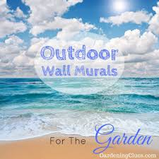 cool ideas for making your walled patio look bigger outdoor wall murals for the garden