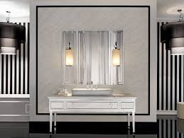 Bathroom Sconce Height Sconces And Mirror Over Bathroom Sink Stock Photos Image 33909583