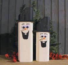 wooden snowman snowmen rustic christmas decor wooden snowmen