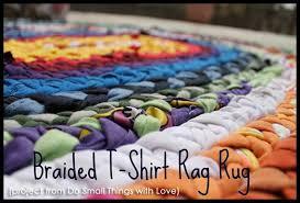 How To Make T Shirt Yarn Rug Make A Braided T Shirt Rag Rug Creative Green Living
