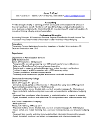 Resume Samples For Accounting by Reverse Chronological Resume Example Examples For Students Free