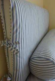 Material For Slipcovers Slipcovers Ideas Great Way To Change A Headboard With Little