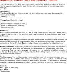 head football coach cover letter 4144