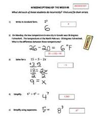 adding positive and negative numbers 5 math middle math