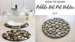 Pebble Rugs Diy How To Make Pebble Pot Holder Stone Mat Easy